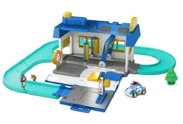 Робокар Поли: Набор Мойка, с Поли 6 см в комплекте - Silverlit