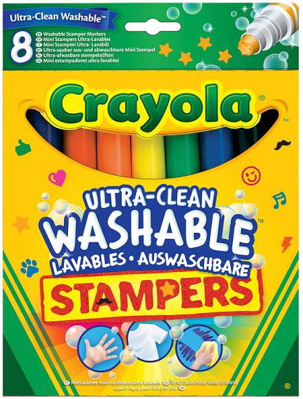 Фломастеры: легкосмываемые со штампами, 8 цветов – Crayola