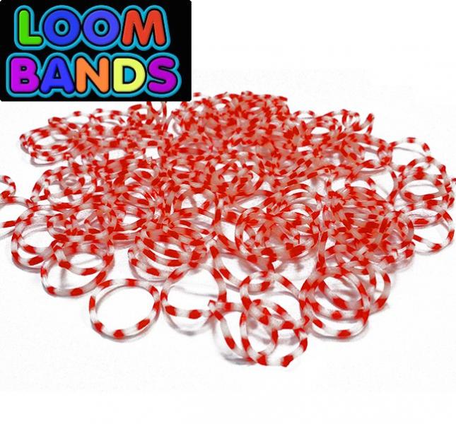 Резинки для плетения браслетов в маленьком пакете, двухцветные