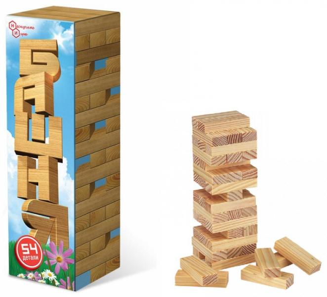 Настольная игра: Башня 54 детали, дерево – ТД Бэмби