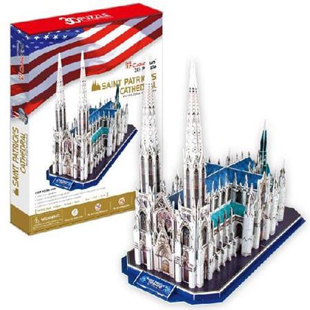 3D пазл: Собор Святого Патрика, большой пазл - CubicFun