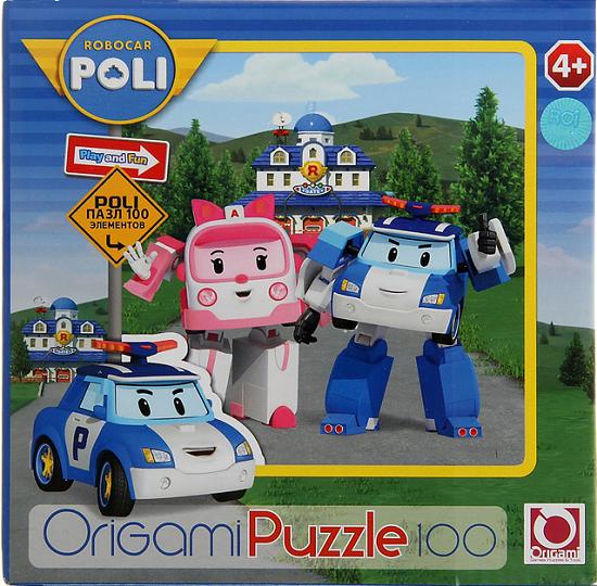 Пазл: Робокар. Эмбер и Поли, 100 элементов – Origami Puzzle