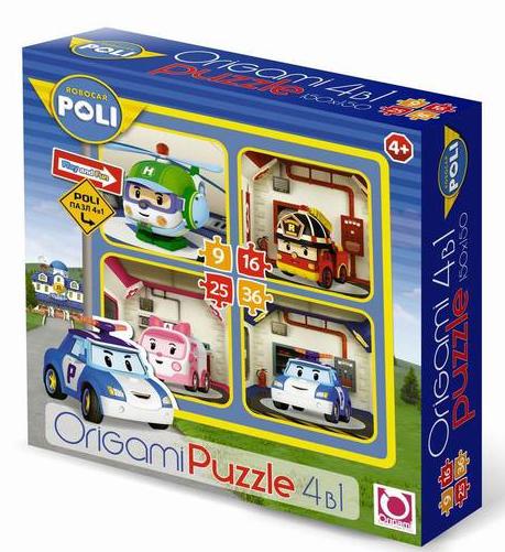 Пазл: 4в1 Робокар Поли – Origami Puzzle