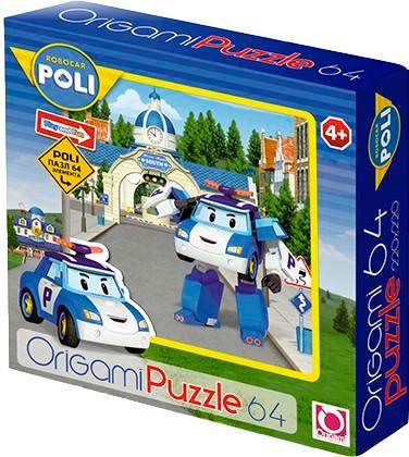 Пазл: Робокар Поли, 64 элемента – Origami Puzzle