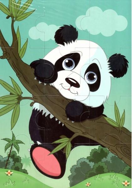 Пазл магнитный: Панда, 12 деталей – Квадра