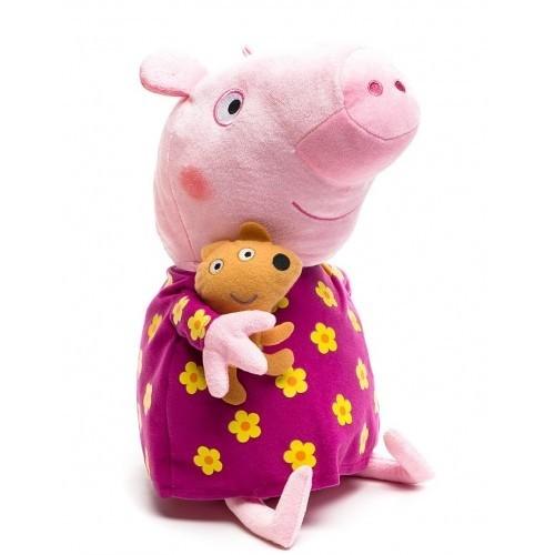 Свинка Пеппа: Мягкая игрушка Пеппа в пижаме 40см – Росмэн