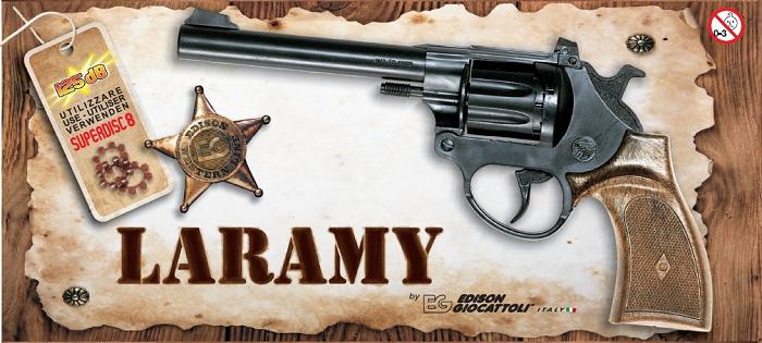 Игрушечный Пистолет Laramy Western (8-зарядные пистоны) - Edison Giocattoli
