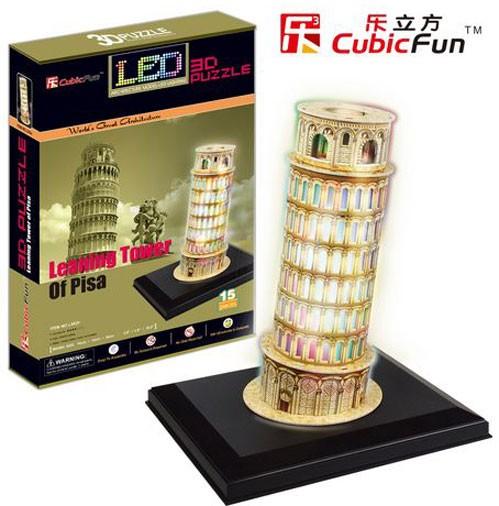 3D пазл: Пизанская башня с иллюминацией - CubicFun