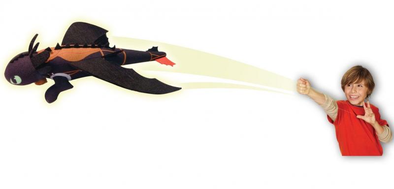 Dragons: Большой плюшевый Беззубик, запускается и летит – Spin master