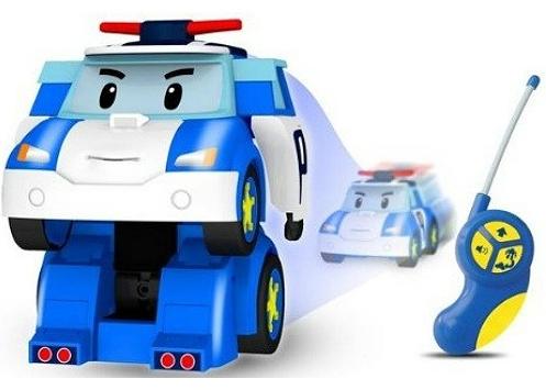 Робокар Поли: Робот-трансформер Поли на р/у со световыми и звуковыми эффектами - Silverlit