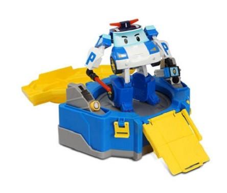 Робокар Поли: Кейс с трансформером Поли 12,5, с гаражом - Silverlit
