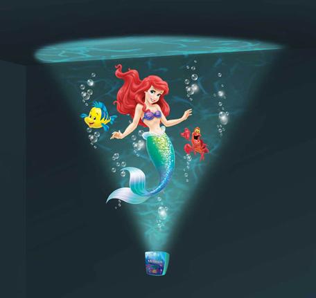 Проектор интерактивный настенный: Подводное путешествие с Русалочкой – Uncle Milton