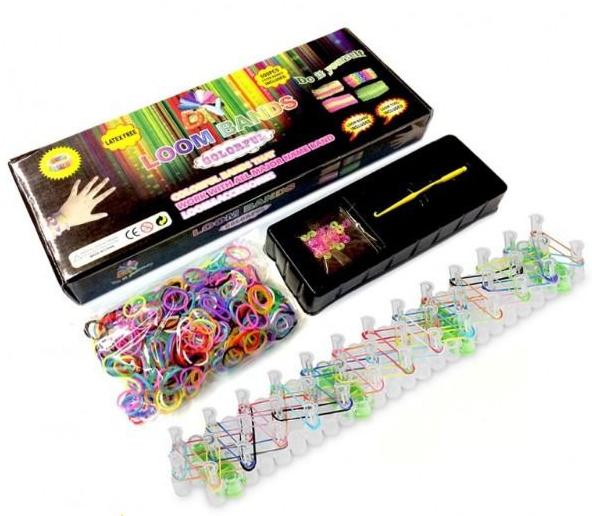 Резинки для плетения браслетов в картонной коробке Colorful