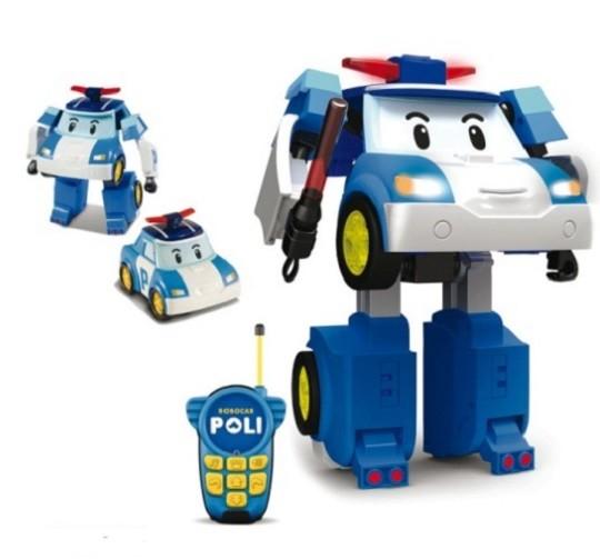 Робокар Поли: Робот-трансформер Поли на р/у. Управляется в форме машины - Silverlit