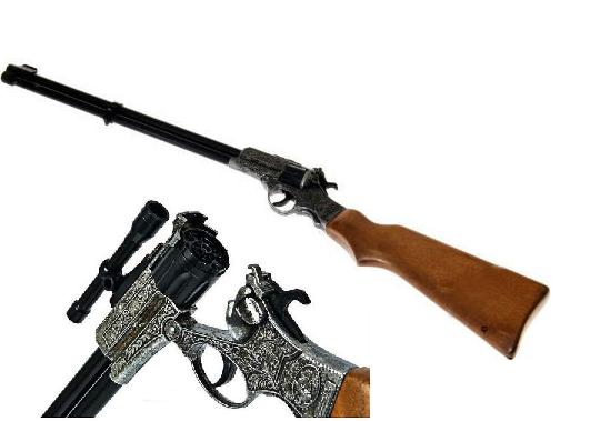 Игрушечное Ружье Enfield Gewehr Western (8-зарядные круговые пистоны) - Edison Giocattoli