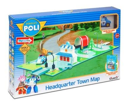 Робокар Поли: Набор Город Штабквартира, с Поли в комплекте - Silverlit