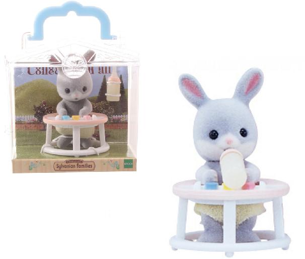 Фигурка Sylvanian Families: Младенец в пластиковой коробке 3380 - Кролик в ходунках