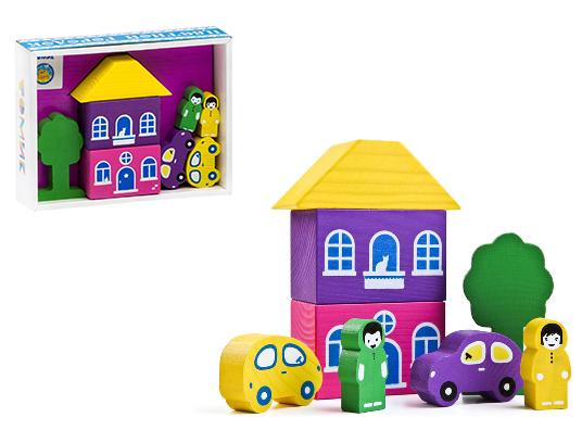Конструктор: Цветной городок, фиолетовый, 8 деталей – Томик