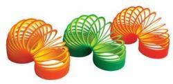 Игрушка Слинки (Slinky) Оригинал «Неон» двухцветные - Poof-Slinkey