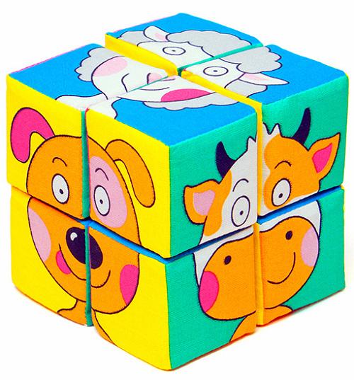 Кубики мягкие: Собери картинку. Зверята - Мякиши