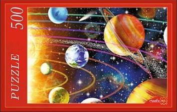 Пазл: Солнечная система, 500 элементов - Рыжий Кот