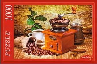 Пазл: Винтажная кофемолка, 1000 элементов - Рыжий Кот