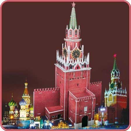 3D пазл: Спасская башня Кремля, средний - CubicFun