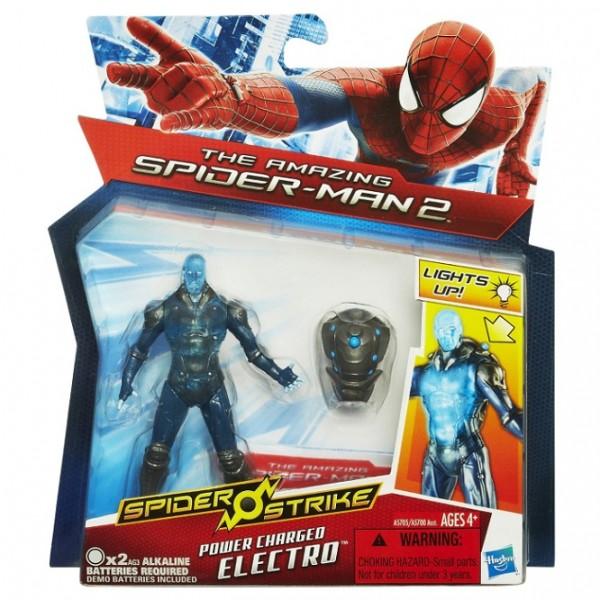 Spiderman - Фигурка Электро 9,5 см, с рюкзаком - Hasbro