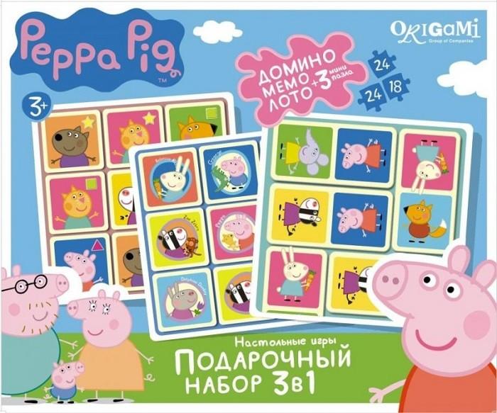 Подарочный набор игр Peppa Pig: Лото, Мемо, Домино + 3 пазла - Origami