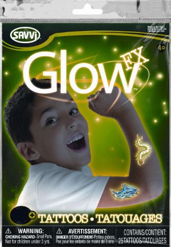 ТАТУ временные, светящиеся в темноте, для мальчиков 50 шт - Savvi