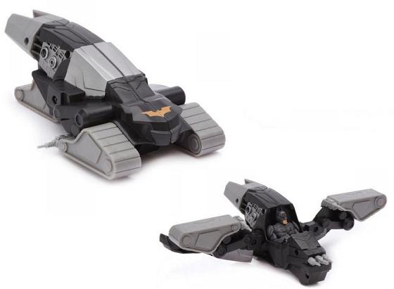 Бэтмен: Трансформирующийся Бэтмобиль с фигуркой Gunship Hoverjet – Mattel