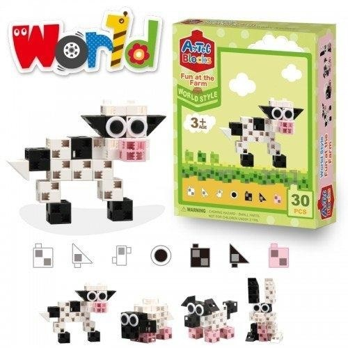 Конструктор ArTeC: World  Веселая ферма, 30 дет.
