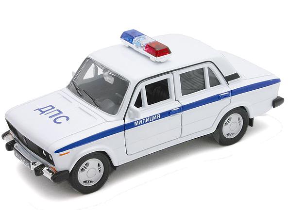 Модель машины Lada 2106 Милиция ДПС - Welly