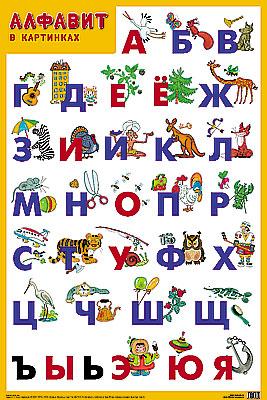 Плакат Алфавит - Мозаика-синтез