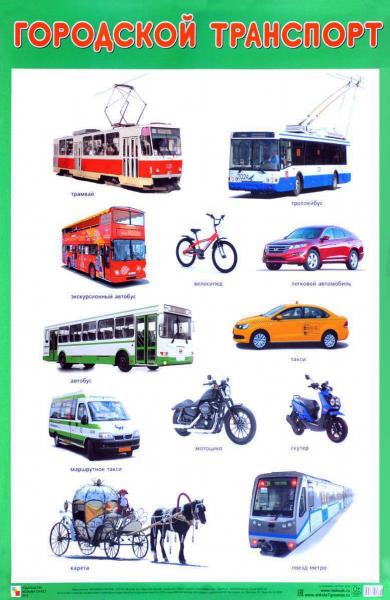 Плакат Городской транспорт - Мозаика-синтез