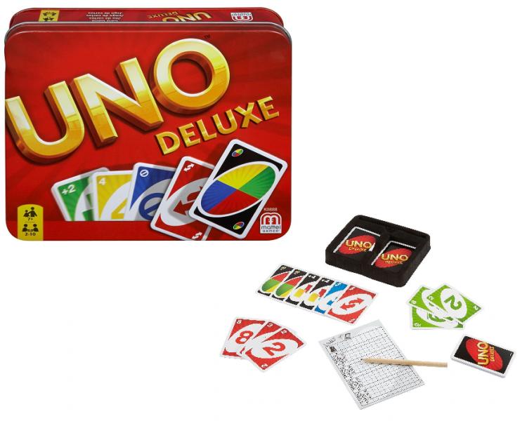 Настольная карточная игра Уно (UNO), ЛЮКС - MATTEL GAMES