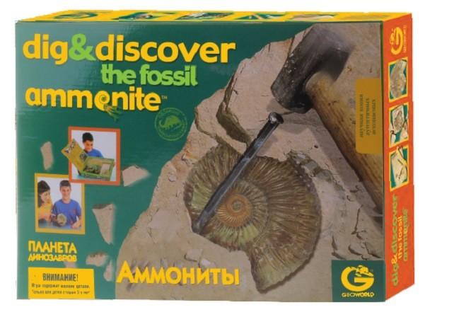 Набор палеонтолога: Ископаемые Аммониты - Geoworld