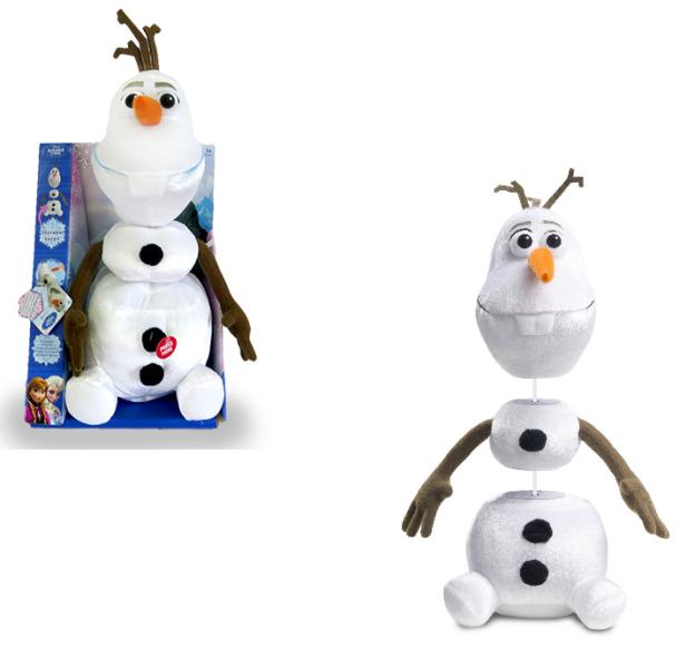 Холодное сердце: Мягкая игрушка Олаф говорит и тянется 35 см, в коробке