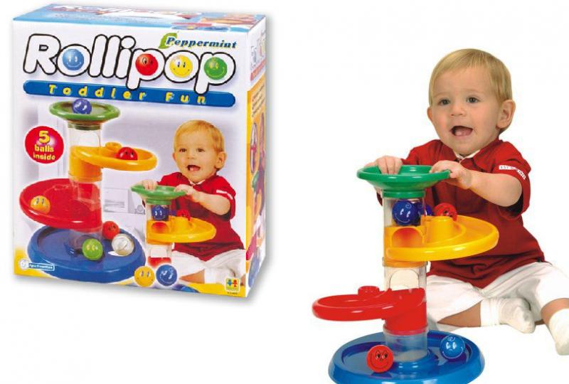 Конструктор RolliPop: 7 деталей + 5 шаров - Toto Toys