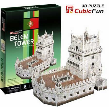 3D пазл: Башня Белен, средний - CubicFun