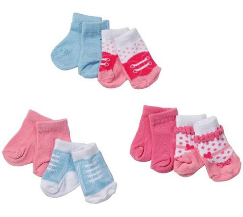 Baby Born: Носки 2 пары для пупса 43 см, в ассортименте - Zapf Creation
