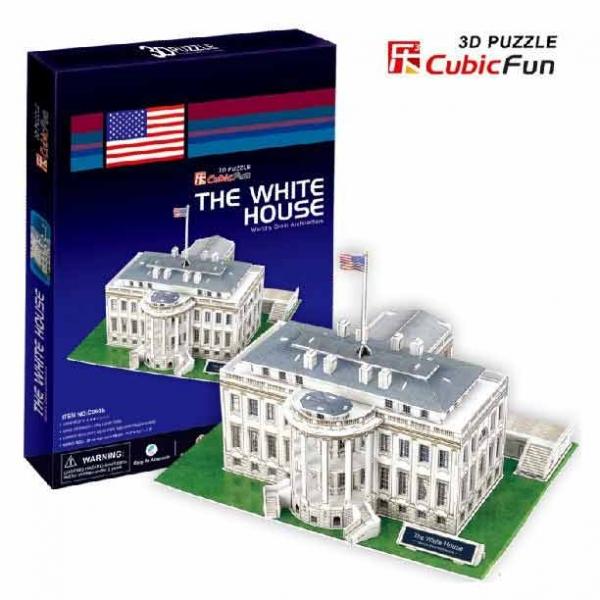 3D пазл: Белый дом, средний - CubicFun