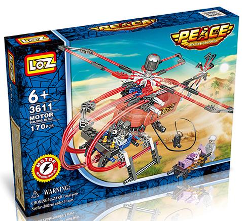 Электромеханический конструктор LOZ: Вертолет - Спасатель