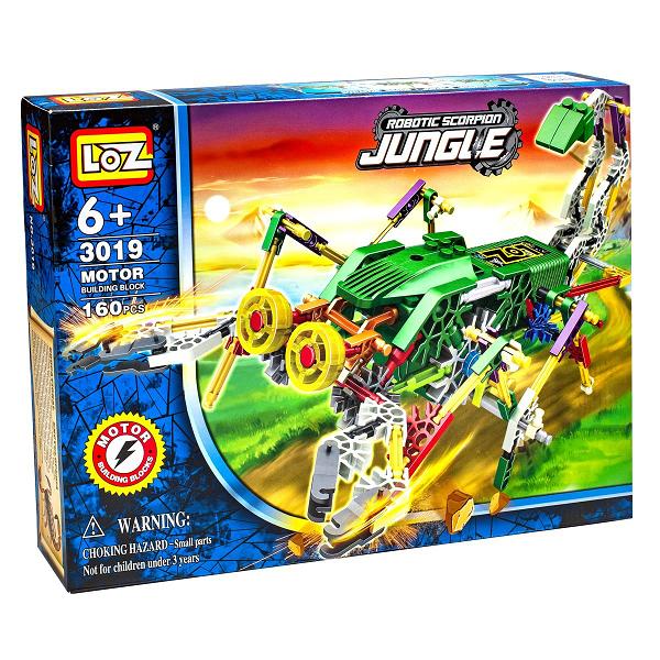 Электромеханический конструктор IROBOT: серия Джунгли. Скорпионозавр - LOZ
