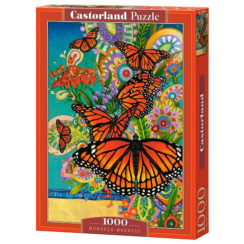 Пазл: Бабочки Монархи, 1000 элементов - Castorland