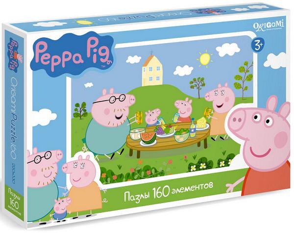 01542 Пазл Свинка Пеппа Завтрак на природе 160 эл. - Origami Puzzle