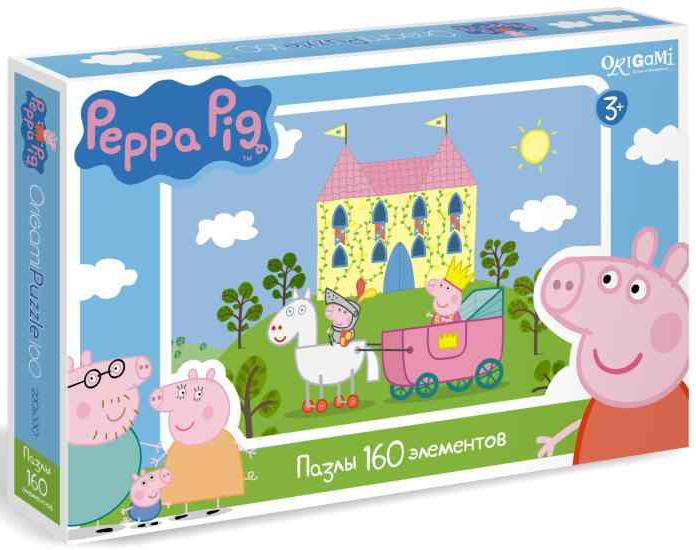 01544 Пазл Свинка Пеппа Принцесса 160 эл. - Origami Puzzle
