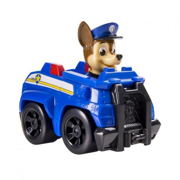 Paw Patrol: Маленькая машинка спасателя и фигурка Гонщик - Spin master