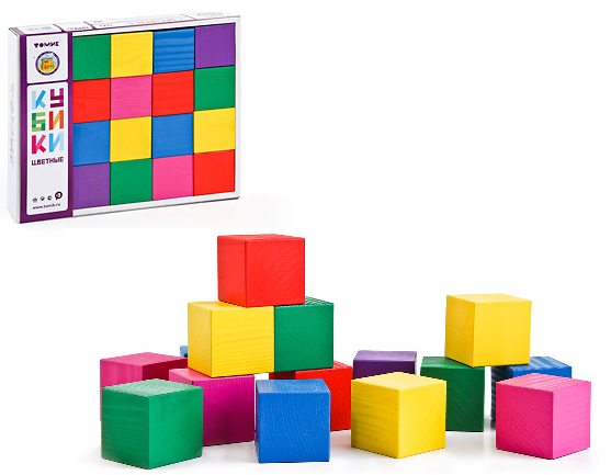 Кубики: Цветные - Томик