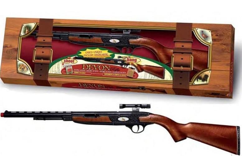 Игрушечное Автоматическое ружье DEVON RIFLE (силиконовые пульки и пистоны 13-зарядные ленточные)